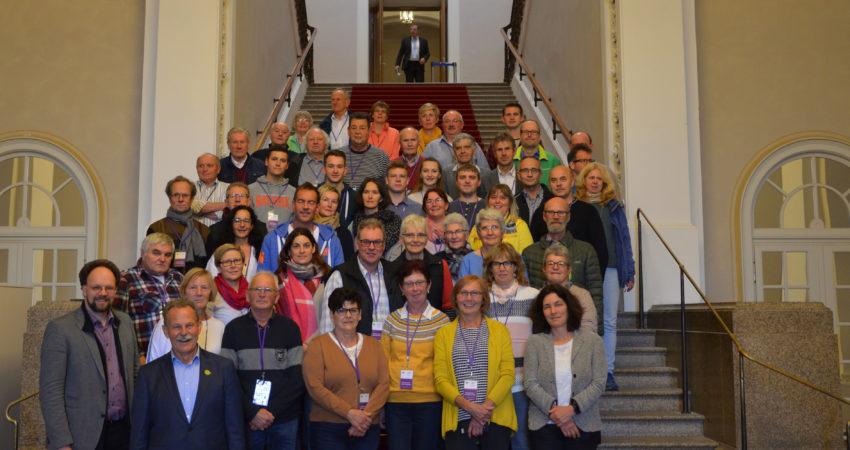 Die Besuchergruppe aus dem Landkreis Schweinfurt zu Besuch beim Landtagsabgeordneten Paul Knoblach