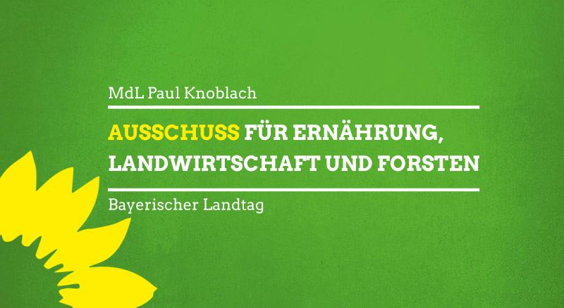 Sitzung Ausschuss für Ernährung, Landwirtschaft und Forsten im Bayerischen Landtag