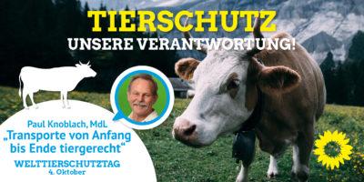 Welttierschutztag MdL Paul Knoblach
