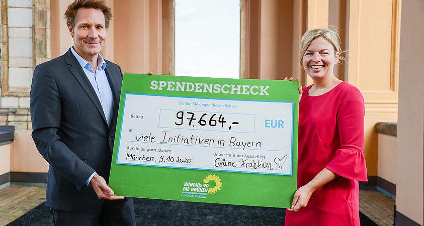 Spendenscheck Grüne Fraktion Bayern