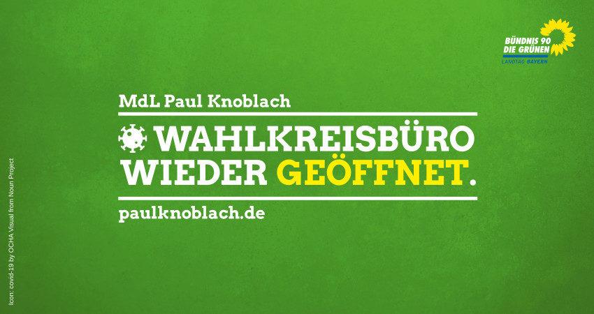 Wahlkreisbüro Schweinfurt wieder geöffnet
